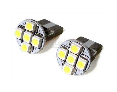 Nova Ultra Bright LED Marker And Dash Bulb, White, 1967-1979
