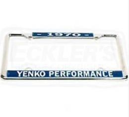 Yenko Performance License Frame, 1970