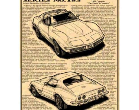 Corvette C3 Illustrated Corvette Series Fine Art Print By K. Scott Teeters, 11x17