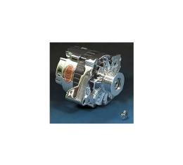 Corvette Alternator, 140 Amp, Chrome, Power Master, 1986-1991