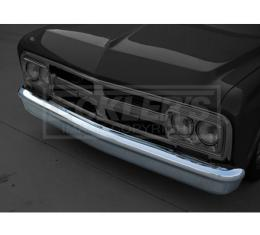 Chevy Truck Front Bumper, Smooth, 1967-1972