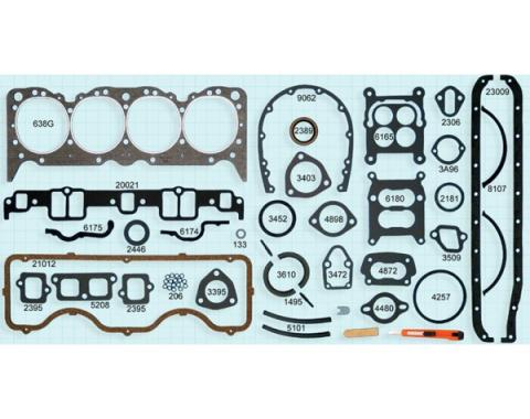 El Camino Engine Gasket Set, 348 V8, 1959-1960