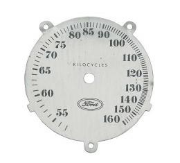 Ashtray Radio Face Plate - Gray - Round - Ford