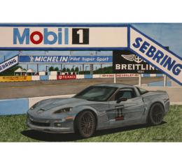 Corvette Carbon Edition At Sebring, Fine Art Print By Dana Forrester, 11x17