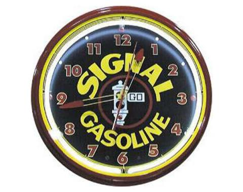 Signal Gasoline 20'' Neon Clock