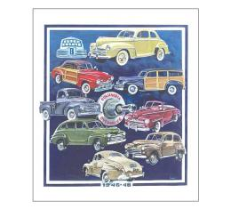 Poster - Depicts Classic Fords From 1946-48 - 27 X 32