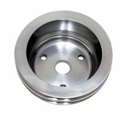 Chevy Small Block Aluminum Crankshaft Pulley, Long Water Pump, 2 Groove