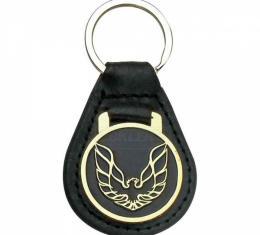 Firebird Key Ring, Black With Gold Logo