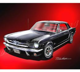 Mustang Coupe Fine Art Print By Danny Whitfield, 1965