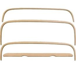 Model A Ford Top Wood Set - Deluxe Phaeton - Steam Bent - 4Pieces