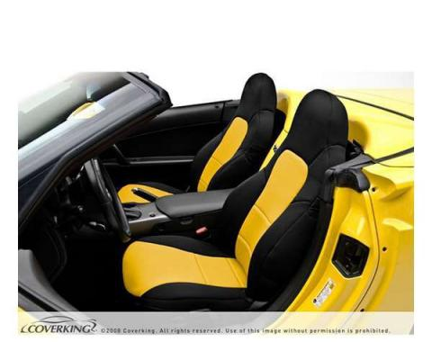 Corvette Coverking CR-Grade Neoprene Seat Covers, Sport Seat With Diagonal Stitching Across Its Seat Bottom, 1994-1996