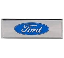 Ford Mustang - Scuff Plate Emblem, Blue, 1968-1973