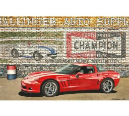 Corvette Grand Sport Evolution, Fine Art Print By Dana Forrester, 11x17