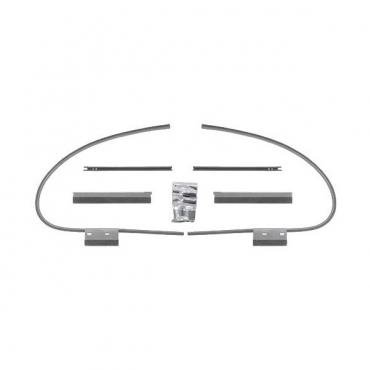 Front Window Channel Kit - Ford Fordor Sedan With Handle AtFront Of Door (Early Type)