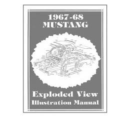 Mustang Exploded View Illustration Manual - 184 Pages