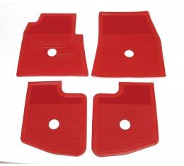 Full Size Chevy Floor Mats, Accessory, Bright Red, 1959-1960