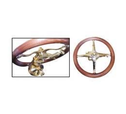Model T Ford Fat Man Steering Wheel Bracket - Polished Brass