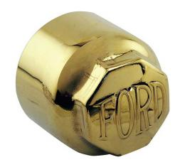Model T Ford Hub Cap Set For Wood Wheels, Brass, Ford BlockLetters