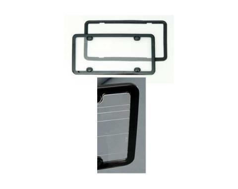 Corvette Clean Plate License Frame, Black, Altec
