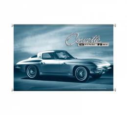 Corvette Stingray Vintage Canvas Print, 38x25, 1963