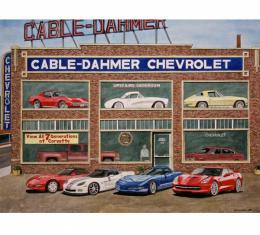 Corvette Magnificent Seven, Fine Art Print By Dana Forrester, 11x17