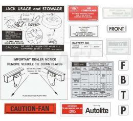 Decal Kit - 1973 Mustang