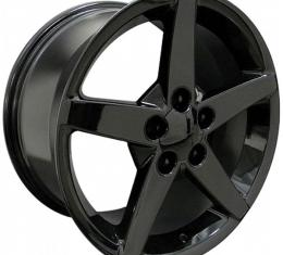 Corvette 17 X 9.5 C6 Style Reproduction Wheel, Black, 1988-2004