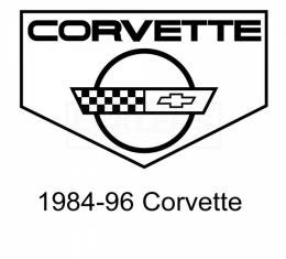 Legendary Auto Interiors Ltd  Rubber Floor Mats, With C4 Logo| 25-13662 Corvette 1984-1996