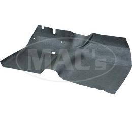 Front Floor Mat - Black Rubber - Ford & Mercury
