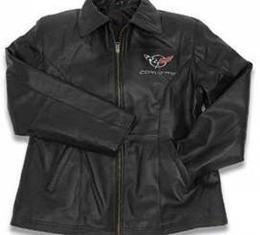 Corvette C5 Lambskin Race Jacket, Women's, Black