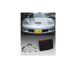 Corvette Front Bumper Removable License Plate Bracket Kit, Z06, 2006-2013