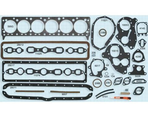 GMC Truck Engine Gasket Set, 228, 236, 248, 270 CI, 1947-1962