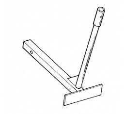"""Parade Flag Holder, Single Flag, Extended Length, Fits into2"""" Square Hitch Opening"""