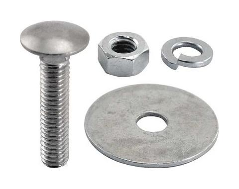 Ford Pickup Truck Bed Strip Bolt Set - Stainless Steel - 6-1/2' Bed With Square Punched Holes