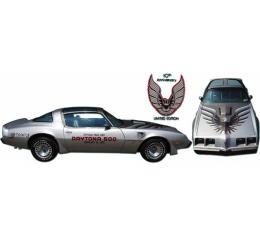 Firebird Decal Set, Silver, Trans Am, Tenth Anniversary, 1979