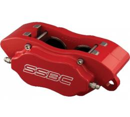 Nova Brake Calipers, 4 Piston, With High Performance Pads, For Power And Non-Power, Competition Series Street, Red, 1968-1974