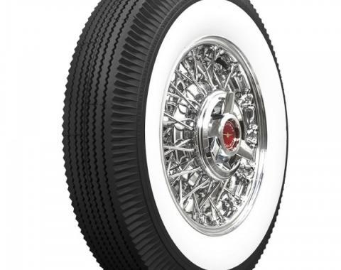 Tire, 750 X 14, 2-1/4 Whitewall, Tubeless, Universal, 1957