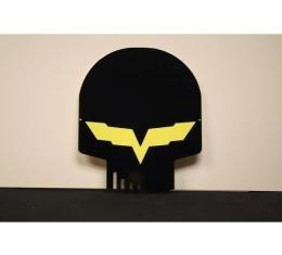 Corvette Metal Sign,Jake,Black