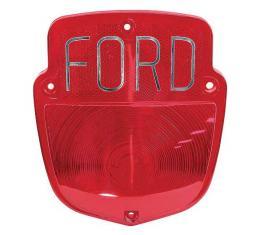 Ford Pickup Truck Tail Light Lens - Shield Type - Chrome Ford Lettering - Flareside Pickup