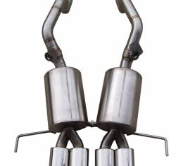 """Corvette PRT 3"""" Stainless Exhaust System, Quad Oval Tips, Billy Boat, C7 2014-2017"""