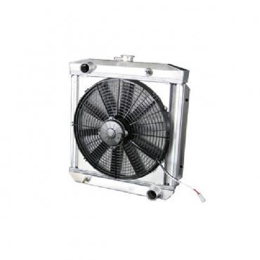 1960-1966 Radiator Downflow Module, 16 In. Spal Fan