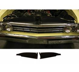 El Camino Core Support Filler Panel, Black Anodized, 1967
