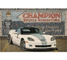 Corvette 60 Years Of Spark, Fine Art Print By Dana Forrester, 11x17