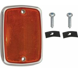 Ford Pickup Truck Reflector - Amber - For Pickup With A Platform Bed - Used At The Front - F100 Thru F600