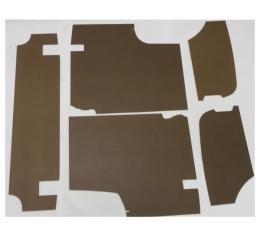 "Mustang Trunk Upholstery Panel Kit, 1/4"" Tempered Hardboard, 1964-1966"