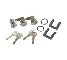 Ford Pickup Truck Door Lock & Ignition Cylinder Set - Includes 2 Keys With Ford Logo - F100 Thru F500