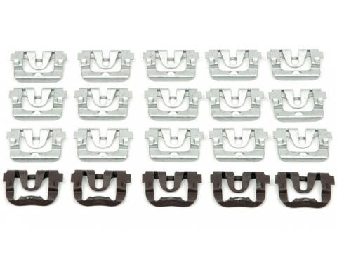 Chevelle Rear Window Molding Clip Set, Except Wagon, 1968-1972