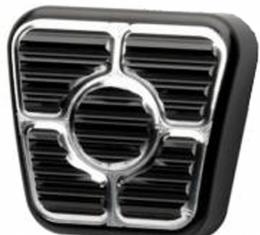 Firebird Parking Brake Pedal Pad, Black Anodized Aluminum, Billet Specialties, 1967-1969