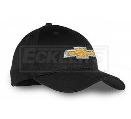 Youth Chevy Gold Bowtie Hat, Cotton Twill