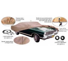Car Cover, Tan Flannel, With Logo, 1964-1965 Mercury Montclair, Monterey, Park Lane, 1969-1972 Mercury Marauder